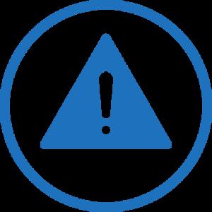 achtung - prozessicherheit symbol